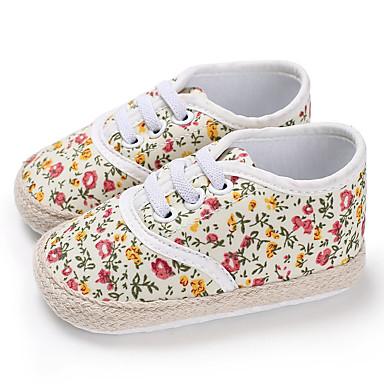 baratos Sapatos de Criança-Para Meninas Lona Tênis Crianças (0-9m) / Criança (9m-4ys) Primeiros Passos Amarelo / Azul Primavera / Outono