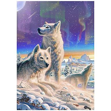 Hala Hyatta Duvar Dekoru Dokunmamış Hayvanlar / Avrupa Duvar Sanatı, Elmas boyama Dekorasyon