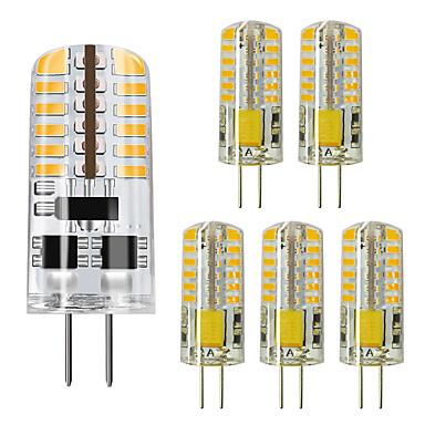 abordables Ampoules électriques-ZDM® 6pcs 5 W LED à Double Broches 450 lm G4 48 Perles LED SMD 3014 Blanc Chaud Blanc Froid 12 V