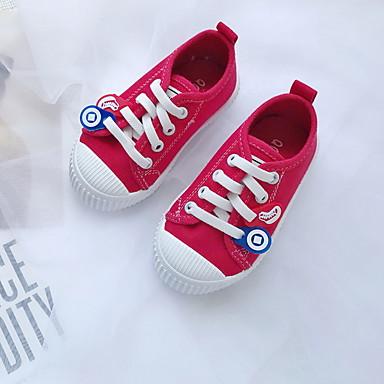 baratos Sapatos de Criança-Para Meninas Lona Tênis Little Kids (4-7 anos) Conforto Preto / Branco / Amarelo Verão