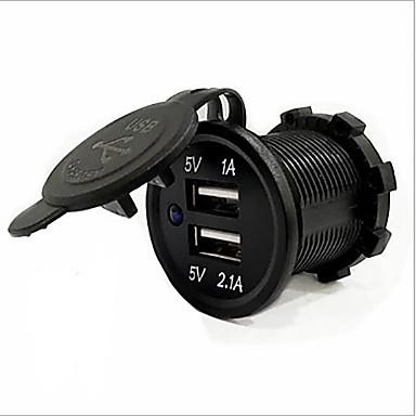 voordelige Automatisch Electronica-5v 3.1a dual usb-poort waterbestendig autolader snel oplaadbaar stopcontact voor ipad iphone auto motorboot mobiele telefoons led