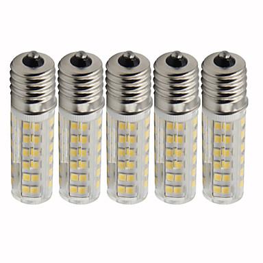 abordables Ampoules électriques-5pcs 4.5 W Ampoules Maïs LED 450 lm E17 T 76 Perles LED SMD 2835 Intensité Réglable Blanc Chaud Blanc Froid 220 V