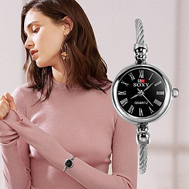 baratos Relógios Homem-Mulheres Relógios de Quartzo Fashion Azul Prata Roxa Tecido Quartzo Roxo Prata Azul Relógio Casual 1 Pça. Analógico Um ano Ciclo de Vida da Bateria / Aço Inoxidável