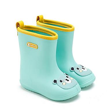 baratos Sapatos de Criança-Para Meninas PVC Botas Little Kids (4-7 anos) Botas de Chuva Preto / Verde / Roxo Verão / Botas Cano Médio