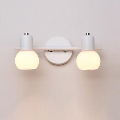 makyaj aynası ışık 2 ışıkları yeni tasarım modern çağdaş duvar lambaları& Aplikleri / banyo aydınlatma / salıncak kolu ışıkları banyo / kapalı metal duvar lambası