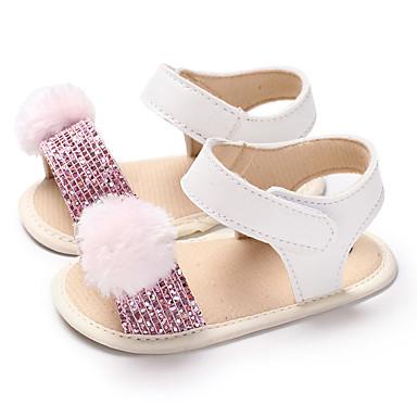 Genç Kız PU Sandaletler Bebekler (0-9m) / Bebek (9 milyon 4ys) İlk Adım Altın / Kırmzı / Pembe Yaz