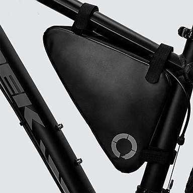 abordables Sacoches de Vélo-1.5 L Sac Cadre Velo Etanche Portable Vestimentaire Sac de Vélo Ripstop 600D Matériau imperméable Sac de Cyclisme Sacoche de Vélo Cyclisme Activités Extérieures Vélo Cyclisme