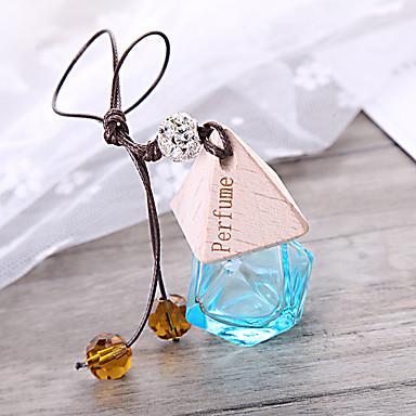 voordelige Auto-interieur accessoires-auto parfumfles luchtverfrisser auto-styling opknoping glazen fles parfum hanger (lege fles zonder etherische olie)