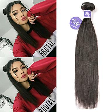 baratos Extensões de Cabelo Natural-3 pacotes Cabelo Peruviano Liso Cabelo Natural Remy 100% Remy Hair Weave Bundles Cabelo Humano Ondulado Extensor Cabelo Bundle 8-28 polegada Natural Tramas de cabelo humano S. Valentim Criativo