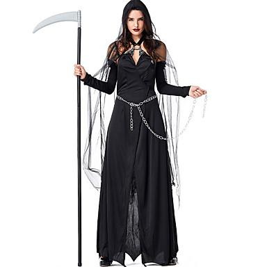 Cadı Kostüm Kadın's Peri Masalı Teması Cadılar Bayramı Performans Kostümler Kadın's Dans kostümleri Polyester Malzeme Kombini