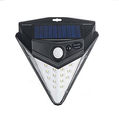 billige Utendørsbelysning-1pc 3 W Solar Wall Light Solar Kjølig hvit 5.5 V Utendørsbelysning / Courtyard 32 LED perler