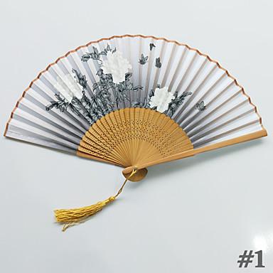 billige Vifter og parasoller-Håndvifter Silke Klæde Kombination Bryllup