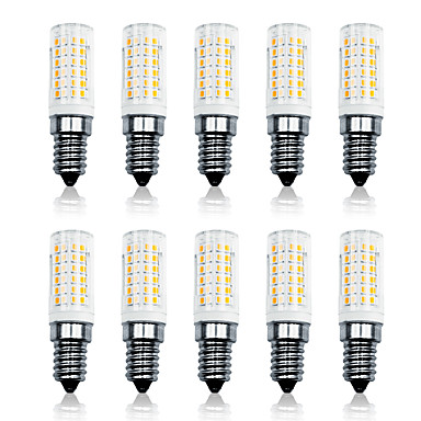 LOENDE 10pcs 7 W LED Mısır Işıklar 800 lm E14 T 78 LED Boncuklar SMD 2835 Kısılabilir Sıcak Beyaz Beyaz 110-130 V 200-240 V