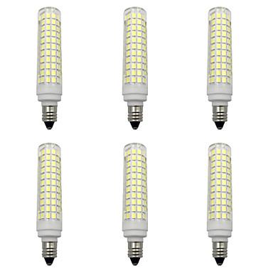 billige Elpærer-6pcs 15 W LED-kornpærer 1500 lm E14 E12 E11 T 136 LED perler SMD 2835 Nytt Design Varm hvit Hvit 220-240 V 110-120 V
