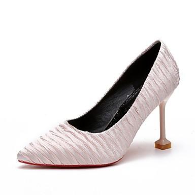 Kadın's Topuklular Stiletto Topuk Pamuklu Günlük Yaz Siyah / Pembe / Gri