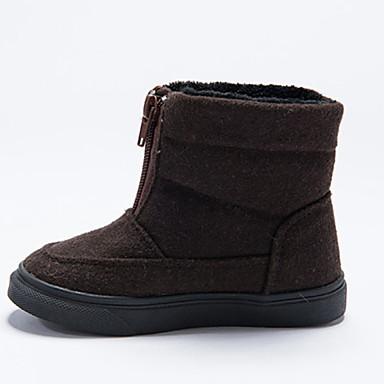 baratos Sapatos de Criança-Para Meninas Algodão Botas Little Kids (4-7 anos) Botas de Neve Preto / Café Verão / Botas Cano Médio