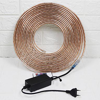 billige LED Strip Lamper-10 m Fleksible LED-lysstriper 600 LED 5050 SMD 1Sett monteringsbrakett Multifarget Vanntett / Fest / Dekorativ 110-240 V 1set