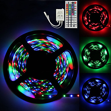 billige LED Strip Lamper-LOENDE 5 m Lyssett 300 LED 2835 SMD RGB Kreativ / Fest / Jul Bryllup Dekorasjon 12 V 1set