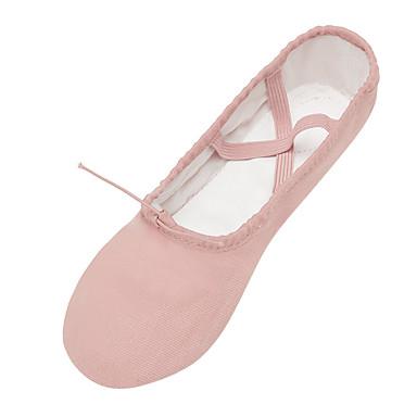 baratos Super Ofertas-Mulheres Sapatos de Dança Lona Sapatilhas de Balé Sapatilha Sem Salto Personalizável Preto / Rosa claro / Camel / Espetáculo / Ensaio / Prática
