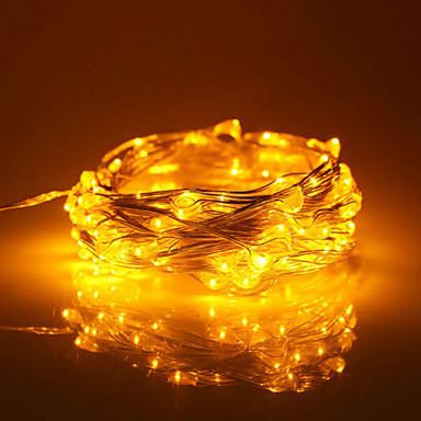 Недорогие LED ленты-10 м Гирлянды 100 светодиоды Тёплый белый / RGB / Белый Водонепроницаемый / Новый дизайн / Для вечеринок 12 V 1шт