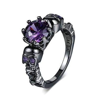 abordables Bague-Femme Bague / Anneaux 1pc Violet / Rouge Cuivre Circulaire Basique / Mode Mariage Bijoux de fantaisie
