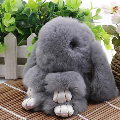 voordelige Dames Sieraden-Sleutelhanger Rabbit Koreaans Zoet Modieus Modieuze ringen Sieraden Bruin / Lichtgrijs / Paars Voor Dagelijks Afspraakje