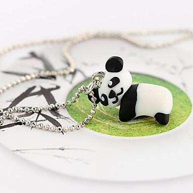 billige Mote Halskjede-Dame Anheng Halskjede Klassisk Panda Gummi Svart 45 cm Halskjeder Smykker 1pc Til Karneval