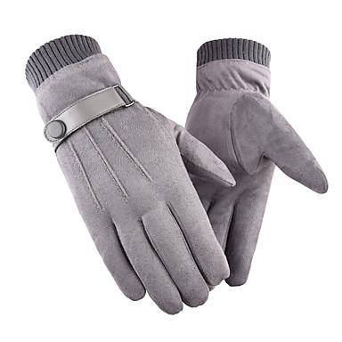 abordables Gants Velo-Gants Tactiles Coupe Vent Respirable Chaud Gants sport Hiver Polaire Noir Grise Jaune pour Adulte Activités Extérieures Gants d'activité & du sport