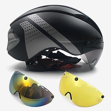 저렴한 헬멧-WILDSIDE 어른' 자전거 헬멧 고글 고글 자전거 헬멧 7 통풍구 ESP+PC EPS 스포츠 자전거 트라이 애슬론 여행 - 블랙 / 실버 레드  / 화이트 블랙 / 화이트 남여 공용