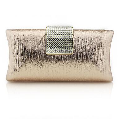 お買い得  バッグ-女性用 グリッター素材 PU イブニングバッグ 純色 ブラック / シャンパン / ゴールド