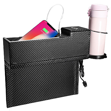 voordelige Auto-interieur accessoires-usb lader autostoel spleet opbergdoos zitruimte opvuller organizer vanger box bekerhouder