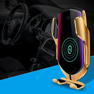 Недорогие Автомобиль Электроника-умный автоматический зажим ци автомобильное беспроводное зарядное устройство 10 Вт быстрая зарядка 360 вращение инфракрасный датчик вентиляционное отверстие автомобильный держатель телефона для iphone