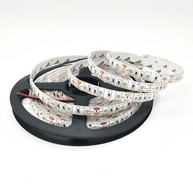 abordables Bandes Lumineuses LED-zdm 1m flexible led bandes de lumière 60 leds 5050 smd 10mm chaud blanc blanc red cutable linkable 12 v adapté aux véhicules auto-adhésif