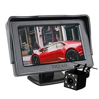 voordelige Automatisch Electronica-ziqiao auto 8 led-verlichting achteruitrijcamera met 4,3 inch schermweergave