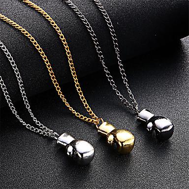abordables Collier-Collier Pendentif Homme Noir Bronze Argent 50 cm Colliers Tendance Bijoux 1pc pour Quotidien