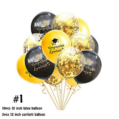 voordelige Feestbenodigdheden-ballonemulsie 15 afstuderen