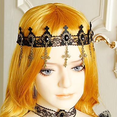 baratos Bijuteria de Mulher-Mulheres Importante Vintage Na moda Resina Tecido Liga Bandanas Halloween Festa temática