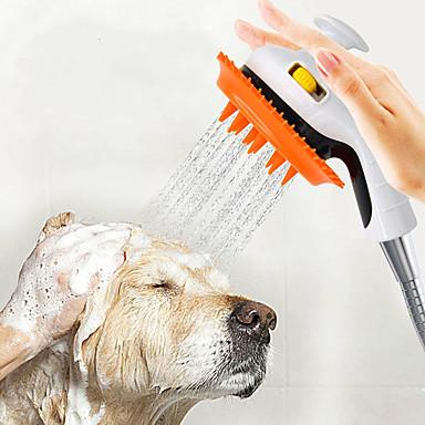 billige Kjæledyrartikler-Hunder Kæledyr Sprøyter Rinser sprinkler Dusj Full Body Silicone Plast og Metall Bad Holdbar Oransje Grønn Rosa 1