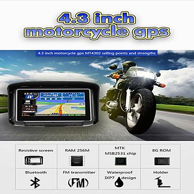 voordelige Automatisch Electronica-4.3 inch waterdichte IPX7 motorfiets GPS navigatie moto navigator met FM Bluetooth 8G Flash Prolech Auto GPS tracker + gratis kaart (update kaart contact klantenservice)
