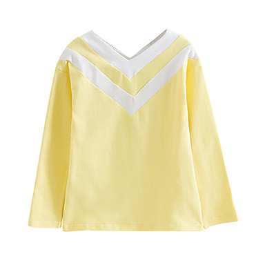 halpa Tyttöjen yläosat-Lapset Taapero Tyttöjen Perus Boheemi Black & White Yhtenäinen Color Block Patchwork Pitkähihainen T-paita Musta