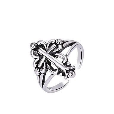voordelige Herensieraden-Heren Dames Ring 1pc Zilver Koper Cirkelvormig Standaard Koreaans Modieus Lahja Feestdagen Sieraden