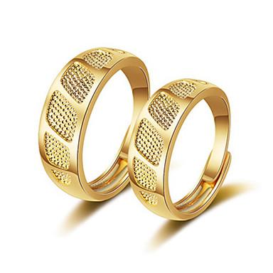 voordelige Dames Sieraden-Voor Stel Ringen voor stelletjes Ring 1pc Goud Goud Rose Koper Cirkelvormig Vintage Standaard Modieus Festival Sieraden