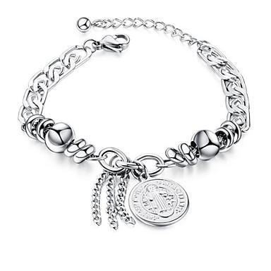 voordelige Dames Sieraden-Heren Dames Armbanden met ketting en sluiting meetkundig Kruis Modieus Staal Armband sieraden Zilver Voor Lahja Dagelijks