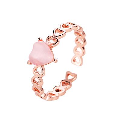 voordelige Dames Sieraden-Dames Ring 1pc Goud Rose Zilver Koper Straat Sieraden