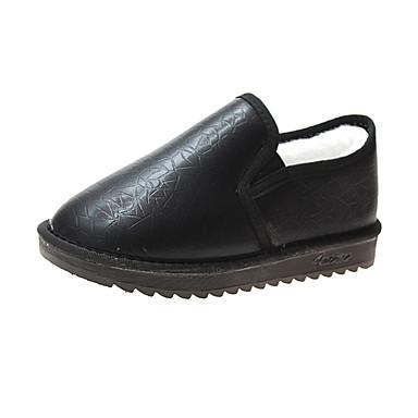 voordelige Dameslaarzen-Dames Laarzen Platte hak Ronde Teen Polyester Korte laarsjes / Enkellaarsjes Herfst winter Zwart / Lichtbruin / Beige