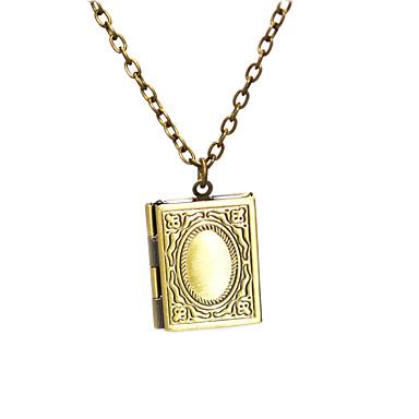 voordelige Herensieraden-Heren Dames Medaillons ketting Klassiek Doos Klassiek Vintage Koper Oud Brons 50 cm Kettingen Sieraden 1pc Voor Dagelijks Straat