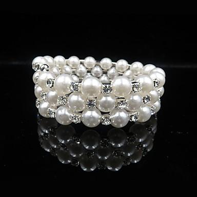 voordelige Dames Sieraden-Dames Armband Dubbel Gelaagd Bal Stijlvol Klassiek Imitatieparel Armband sieraden Wit Voor Dagelijks Festival / Gesimuleerde diamant