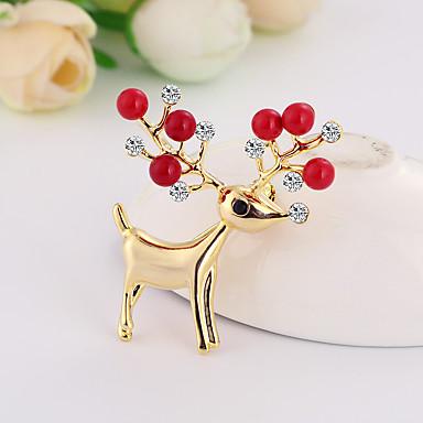 voordelige Dames Sieraden-Dames Broches Broche Sieraden Zilver Rood Voor Kerstmis Dagelijks