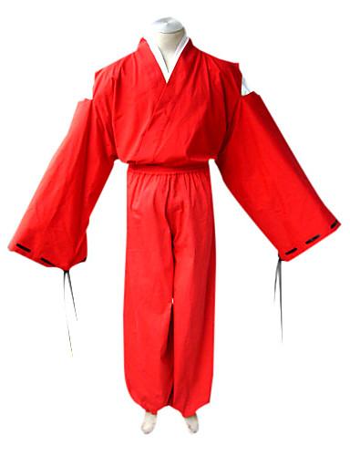 povoljno Anime kostimi-Inspirirana InuYasha Inu Yasha Anime Cosplay nošnje Japanski Cosplay Suits / Kimono Jednobojni Dugih rukava Top / Kimono Dlaka / Hakama hlače Za Muškarci
