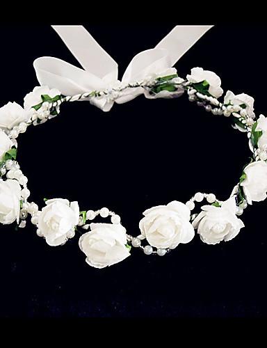 billige Blomsterpike-Krystall / Tøy / skum Tiaras / blomster med 1 Bryllup / Spesiell Leilighet / Fest / aften Hodeplagg